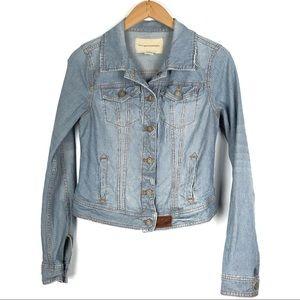 Anthro PILCRO jean jacket Small striped denim o415